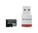 TS16GUSDHC10-P3, Памет Transcend 16GB microSDHC10 (with reader - Class 10), read-write: up to 20MBs, 17MBs -- снимка