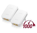 PLA5206V2-EU0201F, ZyXEL PLA5206 v2 Twin Pack, 2x 1000Mbps Powerline Gigabit Adapter, Directplug design, 128-bit AEC Protection, WPS button, QoS -- снимка