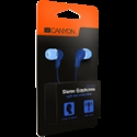 Stereo Earphones with inline microphone, Blue -- снимка