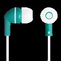 Stereo earphones with micophone, Green -- снимка