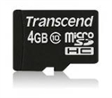 TS4GUSDC10, Transcend 4GB micro SDHC (No Box & Adapter - Class 10) -- снимка
