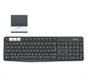 920-008185, Logitech K375s Multi-Device Wireless Keyboard and Stand Combo, Graphite/Offwhite -- снимка