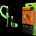 Canyon sport earphones, over-ear fixation, inline microphone, green -- снимка