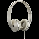 Stereo headphone with microphone and switch of answer/end phone call, cable 1.2M, Beige -- снимка