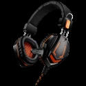 Gaming headset 3.5mm jack with microphone and volume control, cable 2M, Black -- снимка