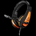 Gaming headset 3.5mm jack with adjustable microphone and volume control, cable 2M, Black -- снимка