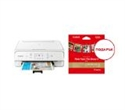 """2229C026AA_2311B060AA, Canon PIXMA TS6151 All-In-One, White + Canon Plus Glossy II PP-201, 5x5"""", 20 sheets -- снимка"""