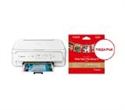 """2228C026AA_2311B060AA, Canon PIXMA TS5151 All-In-One, White + Canon Plus Glossy II PP-201, 5x5"""", 20 sheets -- снимка"""
