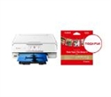 """2230C026AA_2311B060AA, Canon PIXMA TS8151 All-In-One, White + Canon Plus Glossy II PP-201, 5x5"""", 20 sheets -- снимка"""