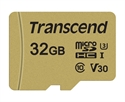 TS32GUSD500S, Памет Transcend 32GB microSDHC I, Class 10, U3, V30, MLC with Adapter, read: up to 95MBs, 60MB/s -- снимка