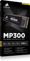 CSSD-F240GBMP300, SSD Corsair Force MP300 Series NVMe (PCIe Slot) M.2 2280 SSD 240GB 3D TLC NAND; Up to 1, 580MB/s Sequential Read, Up to 920MB/s -- снимка