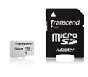 TS64GUSD300S-A, Памет Transcend 64GB UHS-I U1 microSDXC I, Class10 with Adapter, read: up to 95MBs, 45MB/s -- снимка