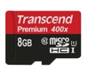 TS8GUSDCU1, Transcend 8GB micro SDHC UHS-I Premium (No Box & Adapter, Class 10) -- снимка
