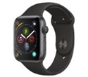 MU6D2WB/A, Apple Watch Series 4 GPS, 44mm Space Grey Aluminium Case with Black Sport Band -- снимка