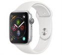 MU6A2WB/A, Apple Watch Series 4 GPS, 44mm Silver Aluminium Case with White Sport Band -- снимка