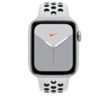 MX3V2BS/A, Apple Watch Nike Series 5 GPS, 44mm Silver Aluminium Case with Pure Platinum/Black Nike Sport Band - S/M & M/L -- снимка