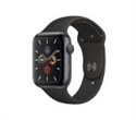 MWVF2VR/A, Apple Watch Series 5 GPS, 44mm Space Grey Aluminium Case with Black Sport Band - S/M & M/L -- снимка
