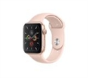 MWV72BS/A, Apple Watch Series 5 GPS, 40mm Gold Aluminium Case with Pink Sand Sport Band -- снимка