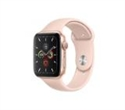 MWVE2BS/A, Apple Watch Series 5 GPS, 44mm Gold Aluminium Case with Pink Sand Sport Band - S/M & M/L -- снимка