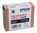 C13T580B00, Epson T580 Vivid Light Magenta for Stylus Pro 3880 80ml -- снимка