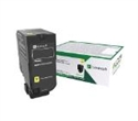 73B20Y0, Lexmark CS827de, CX827de Standard Yellow Return Programme Toner Cartridge -- снимка
