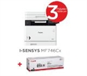 3101C001AA_3020C002AA, Canon i-SENSYS MF746Cx Printer/Scanner/Copier/Fax + Canon CRG-055H BK -- снимка