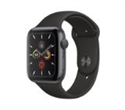 MWV82VR/A, Apple Watch Series 5 GPS, 40mm Space Grey Aluminium Case with Black Sport Band -- снимка