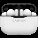 Canyon TWS-3 Bluetooth headset, with microphone, BT V5.0, Bluetrum AB5376A2, battery EarBud 40mAh*2+Charging Case 300mAh, cable length 0.3m -- снимка